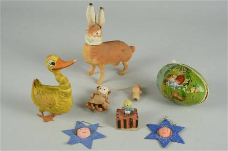 LOT OF ANTIQUE HOLIDAY ITEMS
