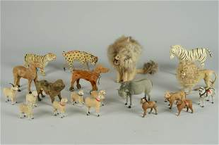 LOT OF 18 ANTIQUE GERMAN ANIMALS