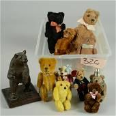 LOT OF SCHUCO BEARS, SCHUCO MONKEY & ARTIST BEARS