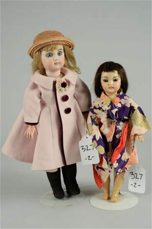 LOT OF 2 REPRODUCTION ARTIST DOLLS