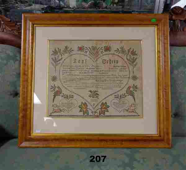 1816 TAUFSCHEIN FOR LEVY BUCHMANN