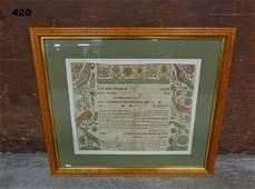 1789 TAUFSCHEIN (FRAKTUR) FOR MARIA