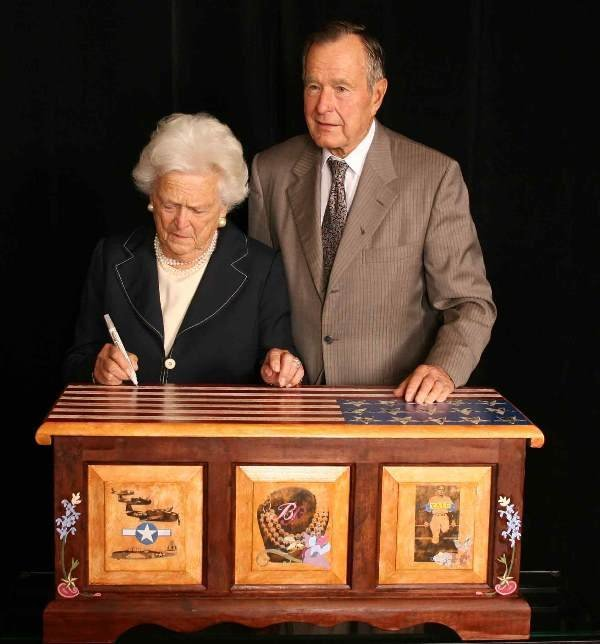 8: Hope chest signed by George H.W. & Barbara Bush