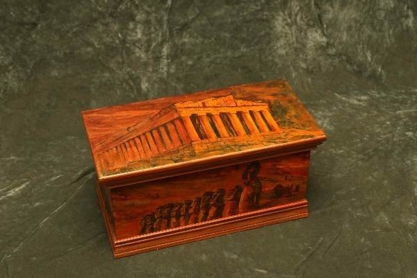15: Original Val Bradley painted hope chest