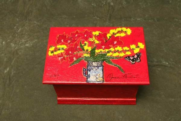 21: Original Dianne Feinstein painted hope chest