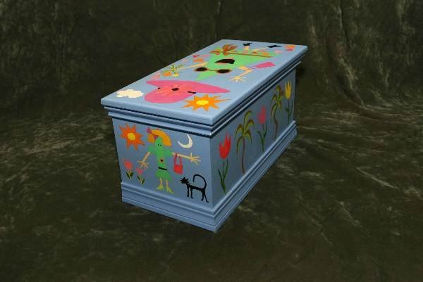 22: Original Nancy Hoke painted hope chest