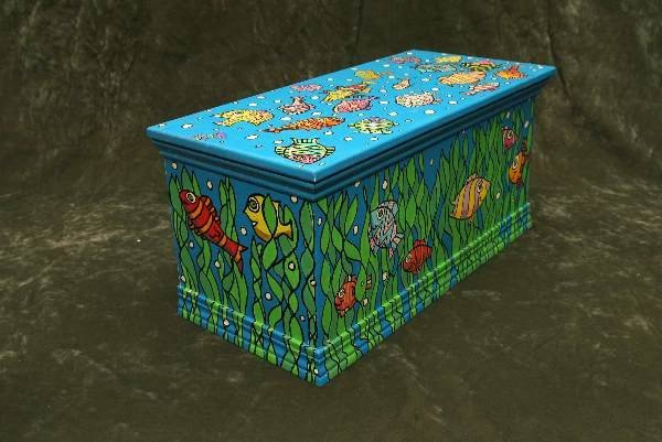23: Original Trevor Romain painted hope chest
