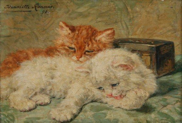 11: Henriette Ronner-Knip, Resting Kittens