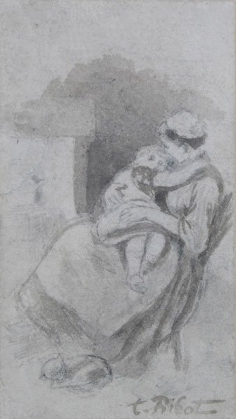 15: Théodule Augustin Ribot, Mother and Child