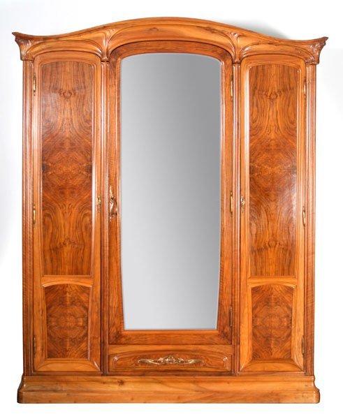 204: Eugene Gaillard, Art Nouveau Armoire