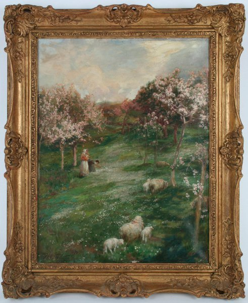18: John William Schofield, Landscape with Sheep