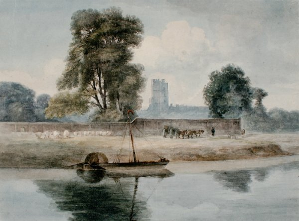 1: Amelia, Lady Farnborough Long, Windsor from the Rive