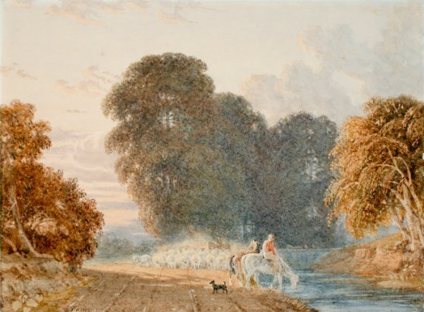 2: George Barret the Younger, Watering at a Stream