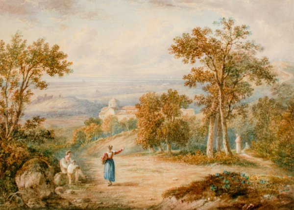 3: George Barret the Younger, Mountain Landscape