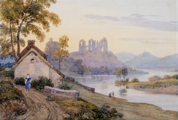 4: George Barret the Younger, Pastoral Scene with Ruins