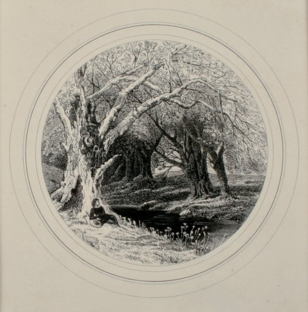 6: Edward Calvert, Woodland with Stream