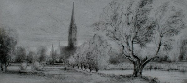 20: Peter De Wint, View of Salisbury Cathedral