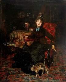 55: Giovanni Boldini, Ritratto di signora seduta