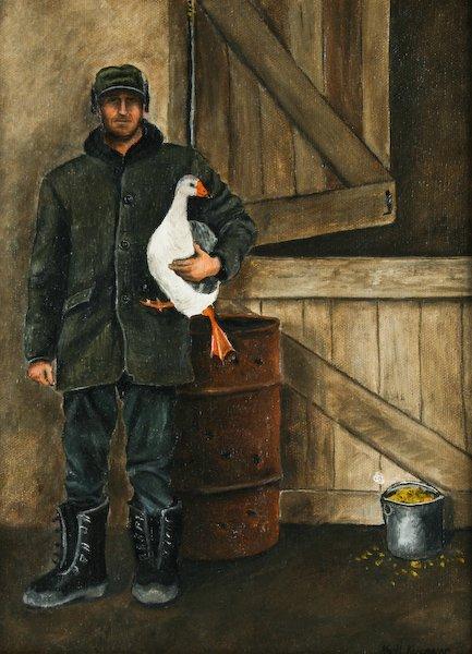 14: Karl J. Kuerner, Man with a Goose