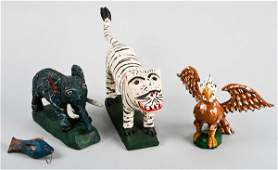 168: Jonathan Bastian, Folk Art Animal Sculptures
