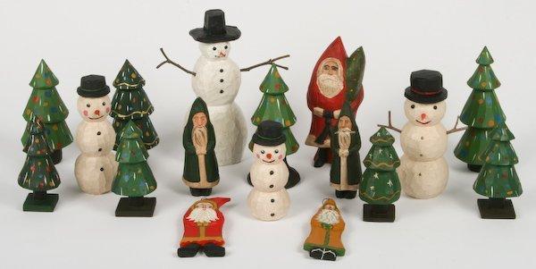 3: Various Artists, 17 Folk Art Holiday Sculptures