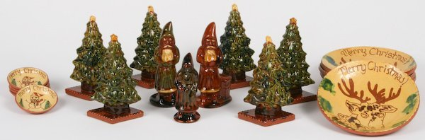 5: Lester Breininger, 18 Christmas Figurines and Plates