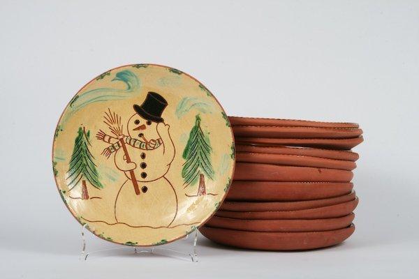 6: Lester Breininger, 13 Folk Art Christmas Plates