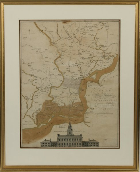 9: Plan of the City and Environs of Philadelphia, 1777