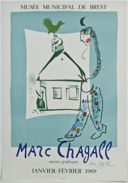 16: Marc Chagall,  La maison dans mon village
