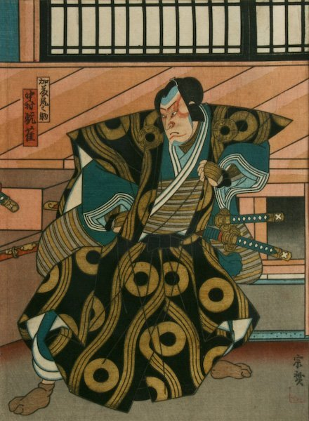 Kabuki Warrior, Japanese woodblock print