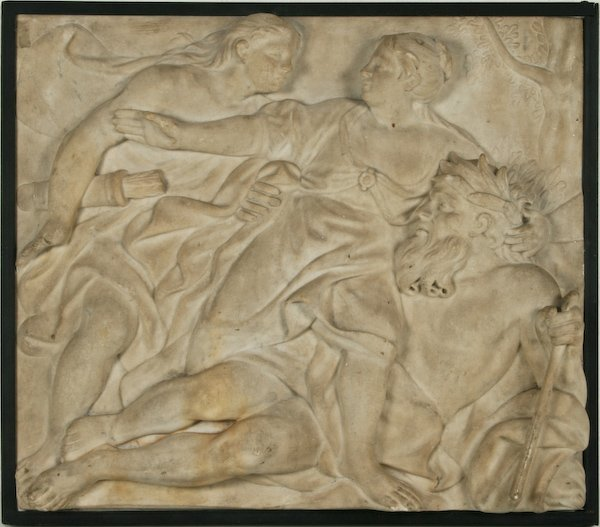 Antique Allegorical Bas-relief of Apollo and Daphne