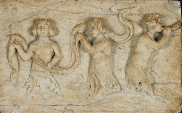 Marble Bas-relief Depicting Three Sea Nymphs
