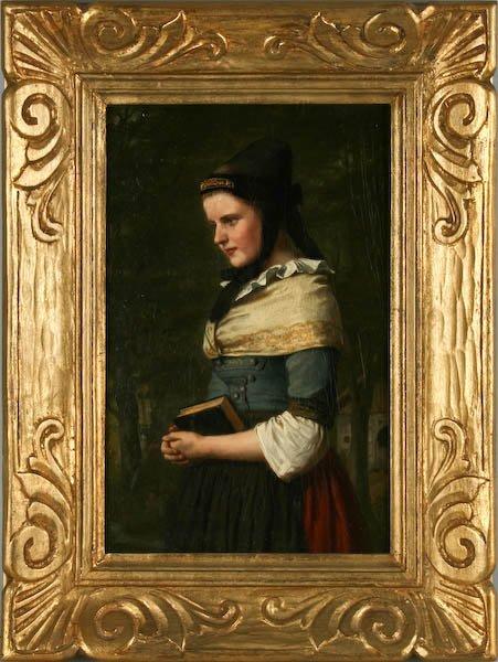 Carl Johann Lasch, Portrait of a Woman with a Book