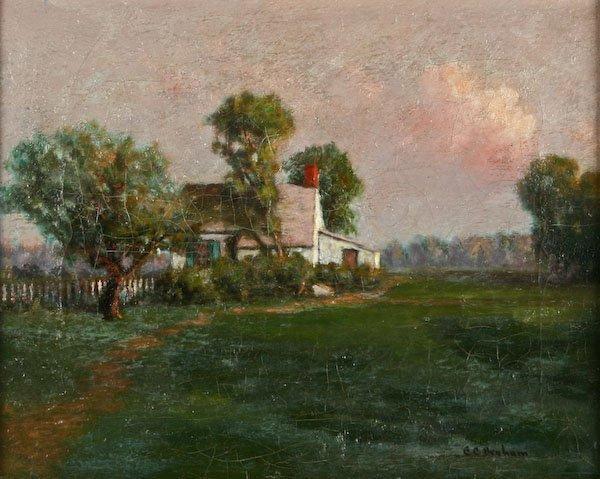 C.C. Benham, Cottage at Sunset