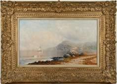 Karl Eugene Felix, Seascape with Sailboat