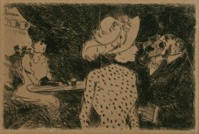 Jean Louis Forain, Etching