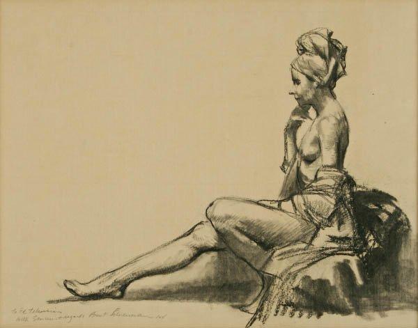 Burton Silverman, Woman Sitting