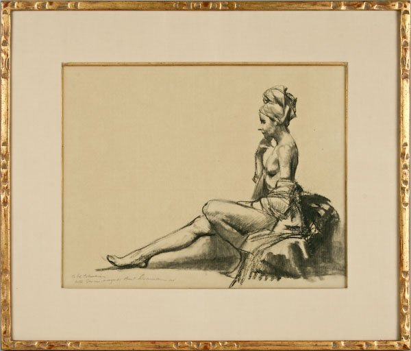 Burton Silverman, Woman Sitting - 2