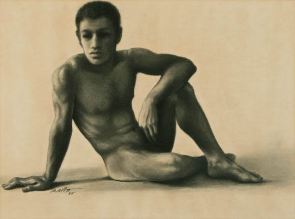 Benjamin Britt, Reclining Male Nude