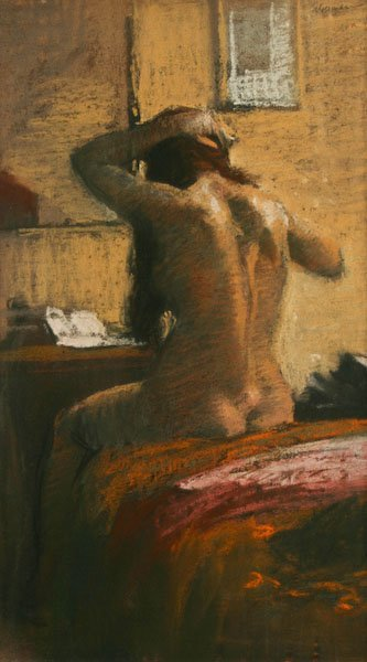 Burton Silverman, Nude Brushing her Hair