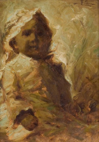 Fidelio Ponce de Leon, Child with Bonnet