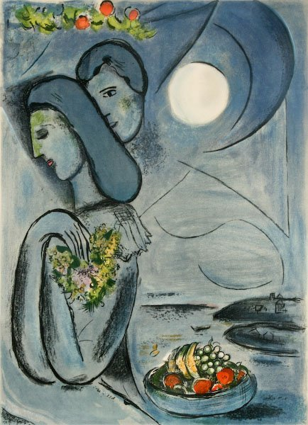 After Marc Chagall, Saint Jean Cap Ferrat