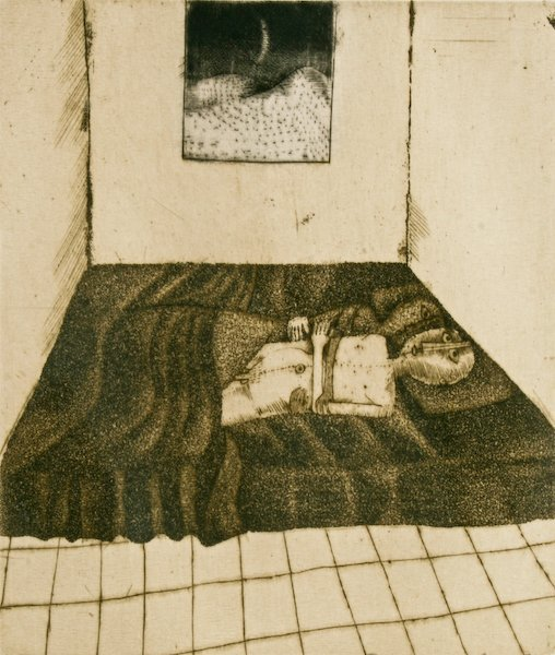 German School, Untitled, etching