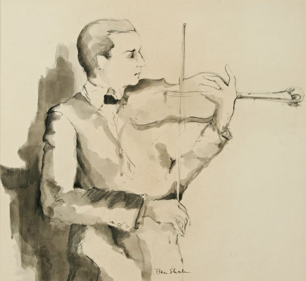 Attributed to Ben Shahn, Violinist