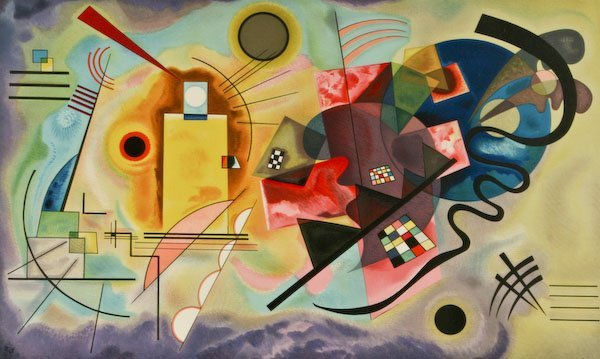 After Wassily Kandinsky, Red-Yellow-Blue