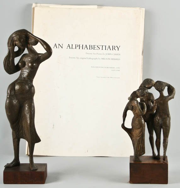 Milton Elting Hebald, Two Bronze Sculptures