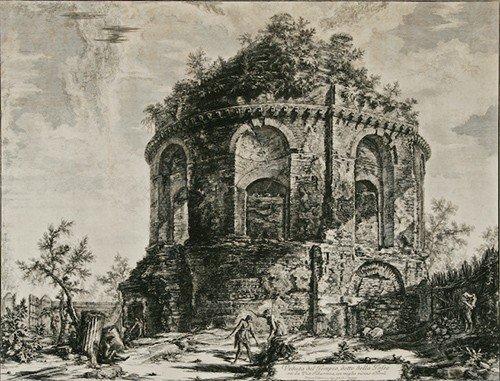 1: Giovanni Battista Piranesi Veduta del Tempio etching