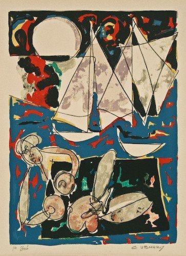 """2: Claude Venard """"Petit Baigneuse"""" lithograph"""