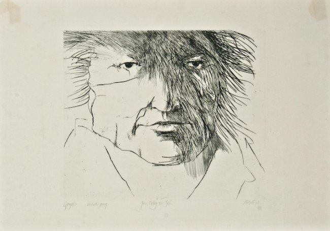 "3: Leonard Baskin ""Goya"" etching, artist proof"