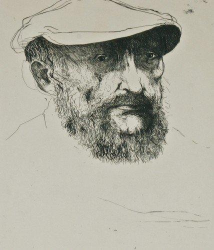 "7: Leonard Baskin ""Barlach"" etching, artist proof"